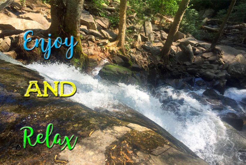 water fall enjoy and relax 5 dog farm