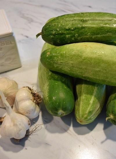 cucumbers garlic and salt 5DogFarm