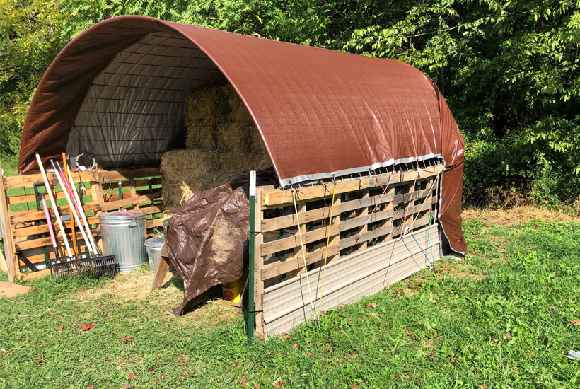 finished hay shed