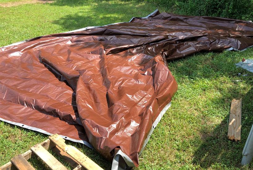 16x30 tarp for roof 5DogFarm