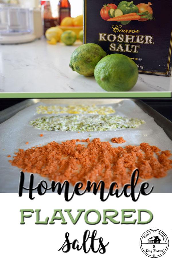 Homemade Flavored Salts Gift Idea 5Dog.Farm