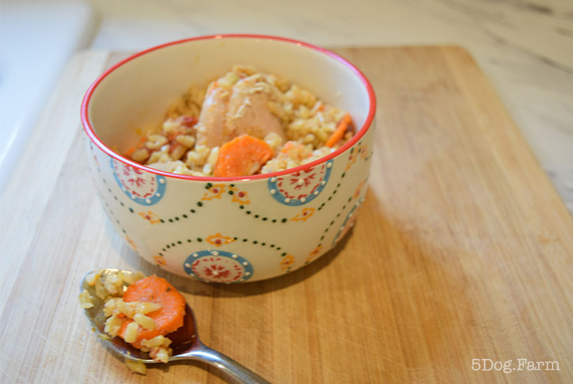 bowl of instant pot chicken and rice 5DogFarm