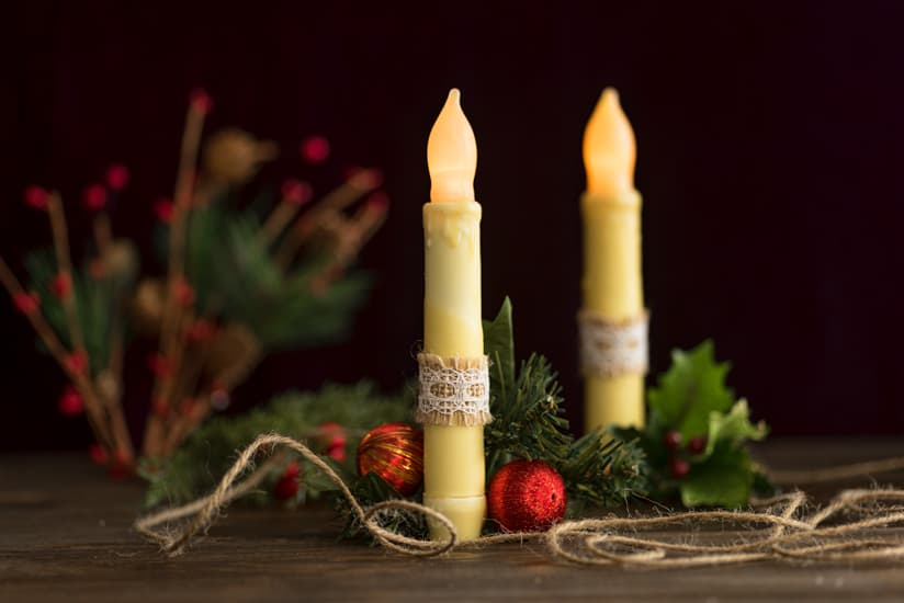 how to make wax covered led candles