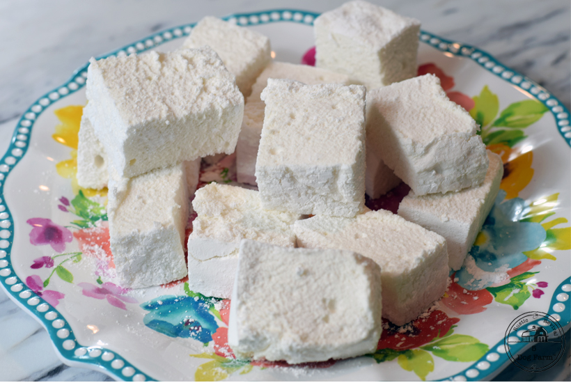 plate of homemade marshmallows