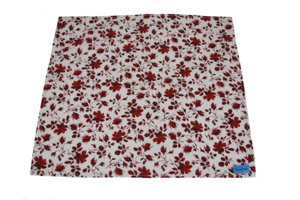 single red rose reusable napkin