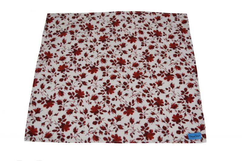 single red rose reusable napkin