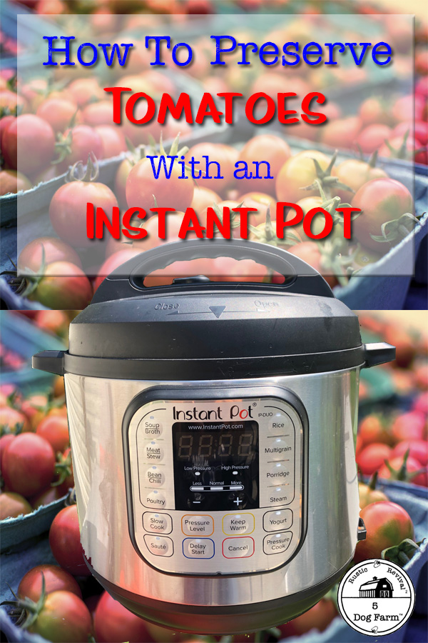 tomatoes and an instant pot