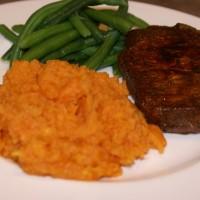 Pork Chops, Sweet Potatoes and Green Beans