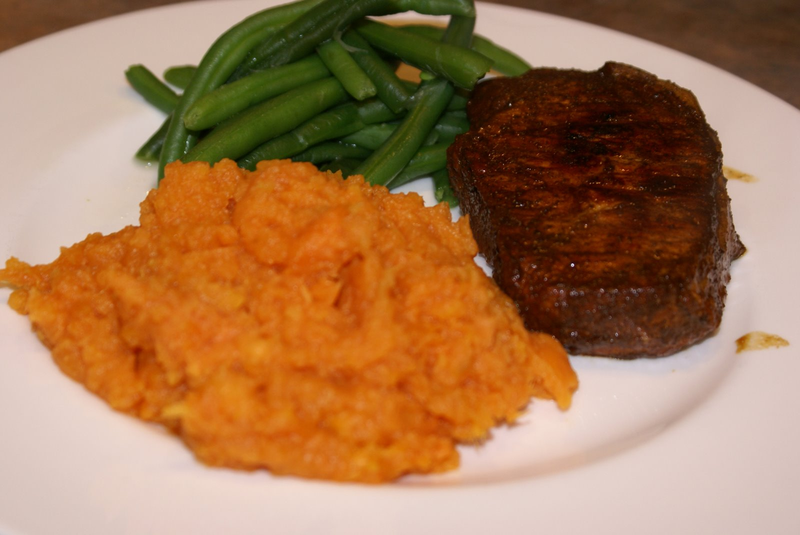 Pork Chops, Sweet Potatoes and Green Beans