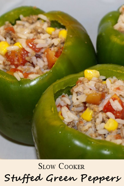 Stuffed Green Peppers in the Slow Cooker | 5DollarDinners.com