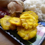 Chicken and Tostones (Fried Plantains)