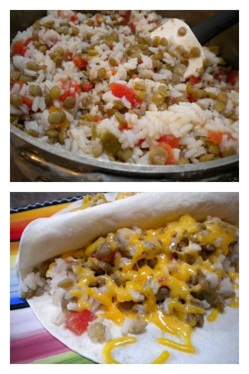 Vegetarian Lentil Burritos   5DollarDinners.com