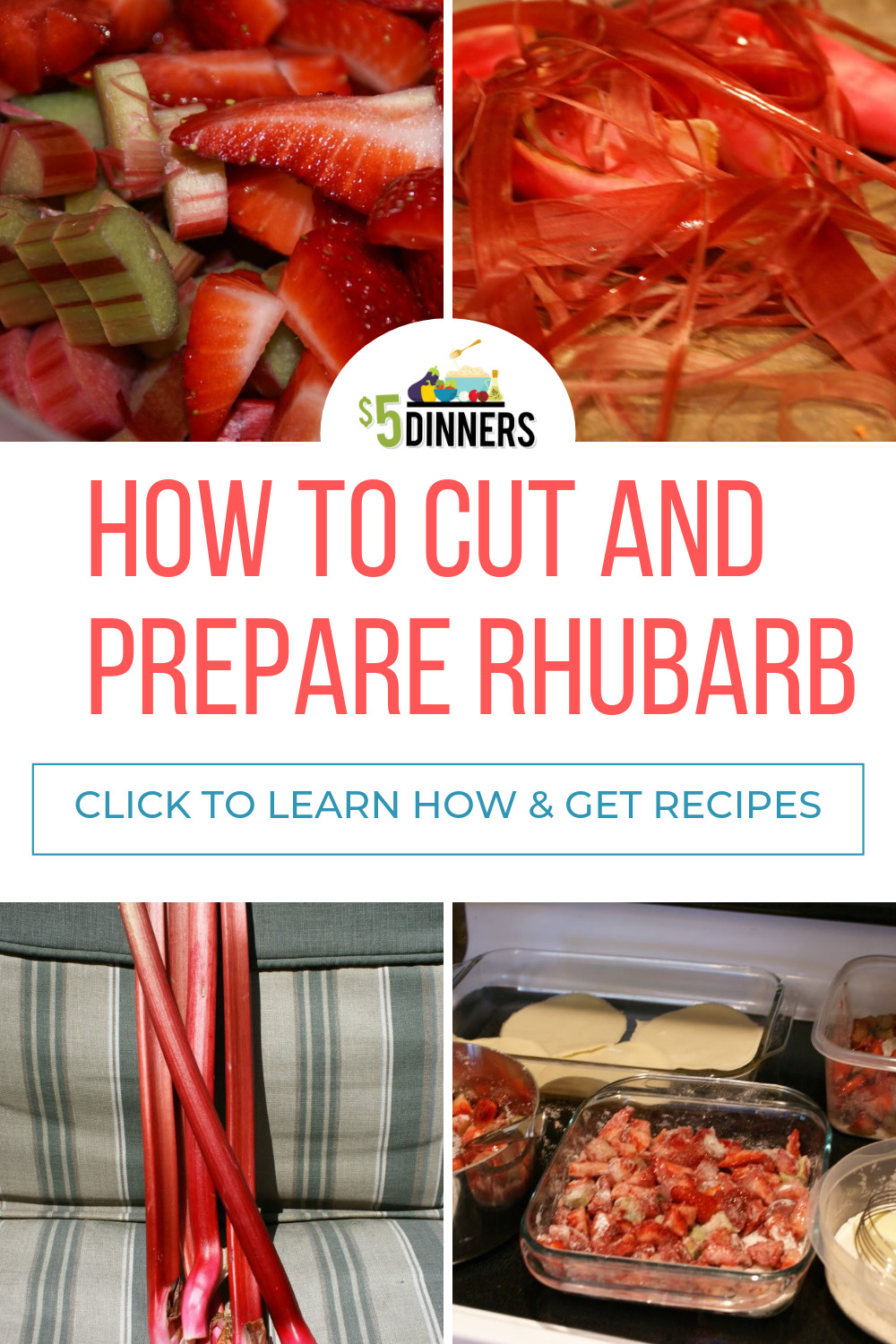 How to Cut and Prepare Rhubarb for Cooking and Freezing - Recipes