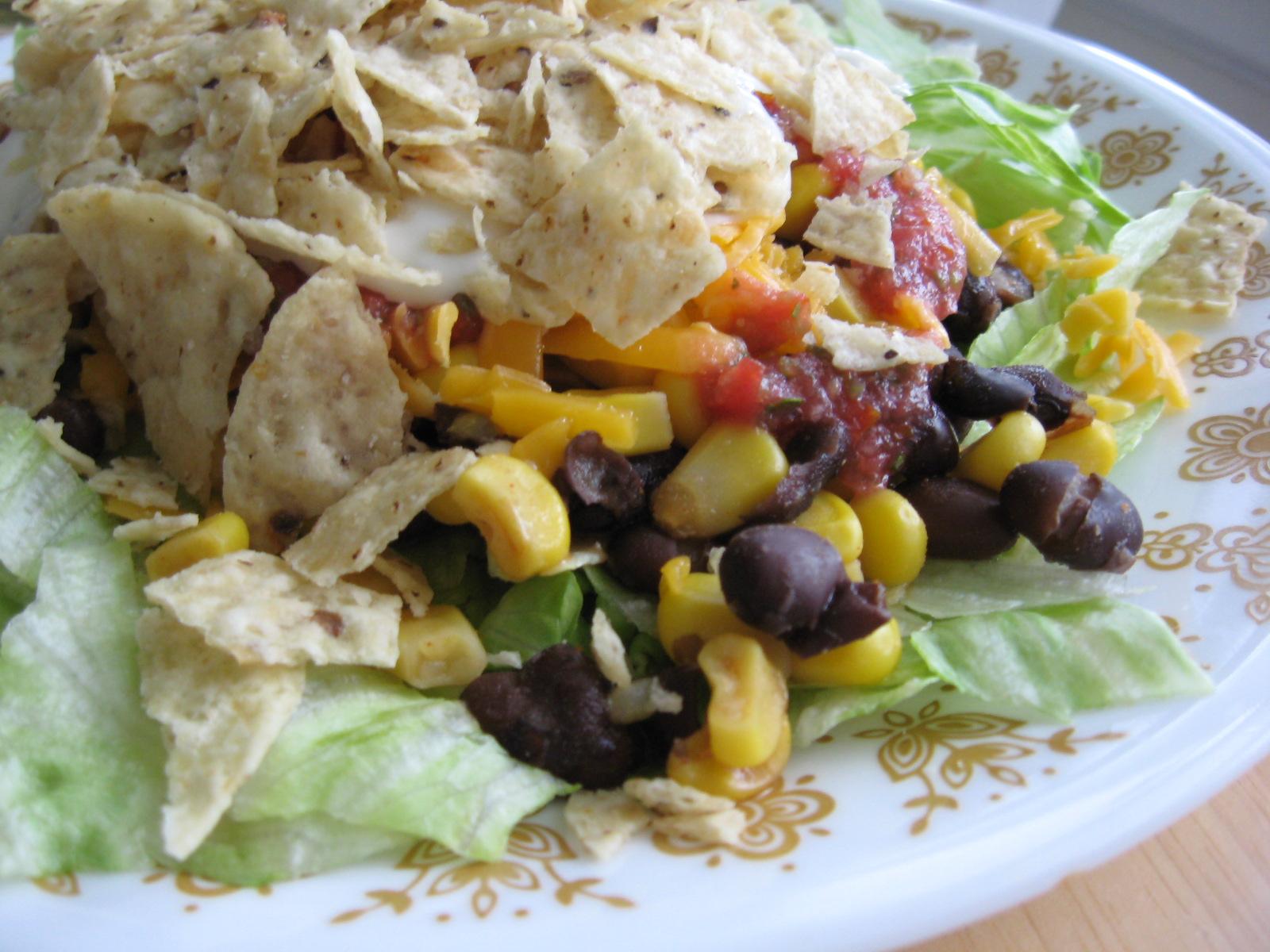 Spicy Black Bean Taco Salad   5DollarDinners.com