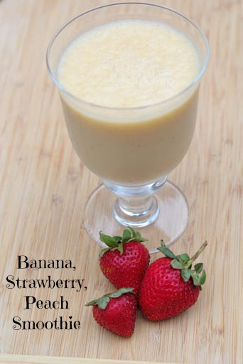Banana Strawberry Peach Smoothie Recipe
