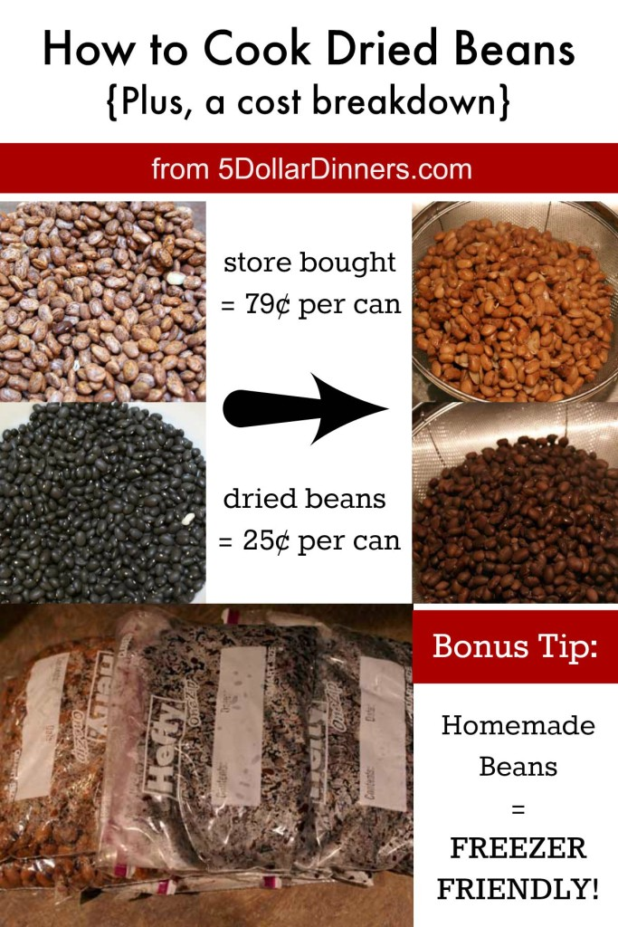 How to Cook Dried Beans | 5DollarDinners.com