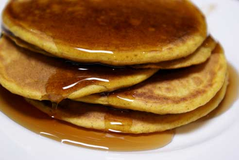 Pumpkin-Pancake-Stack