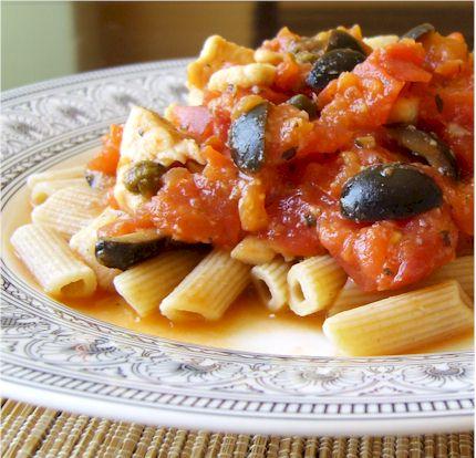 Spicy Pasta Puttanesque-a
