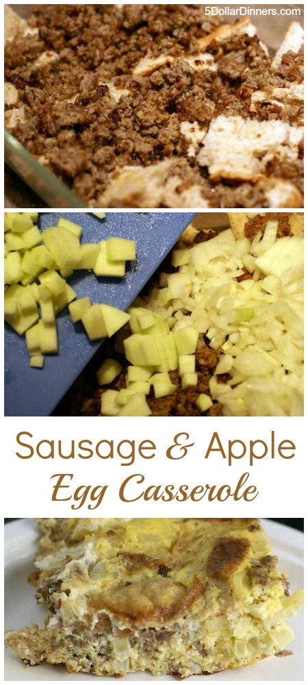 Sausage and Apple Egg Casserole | 5DollarDinners.com