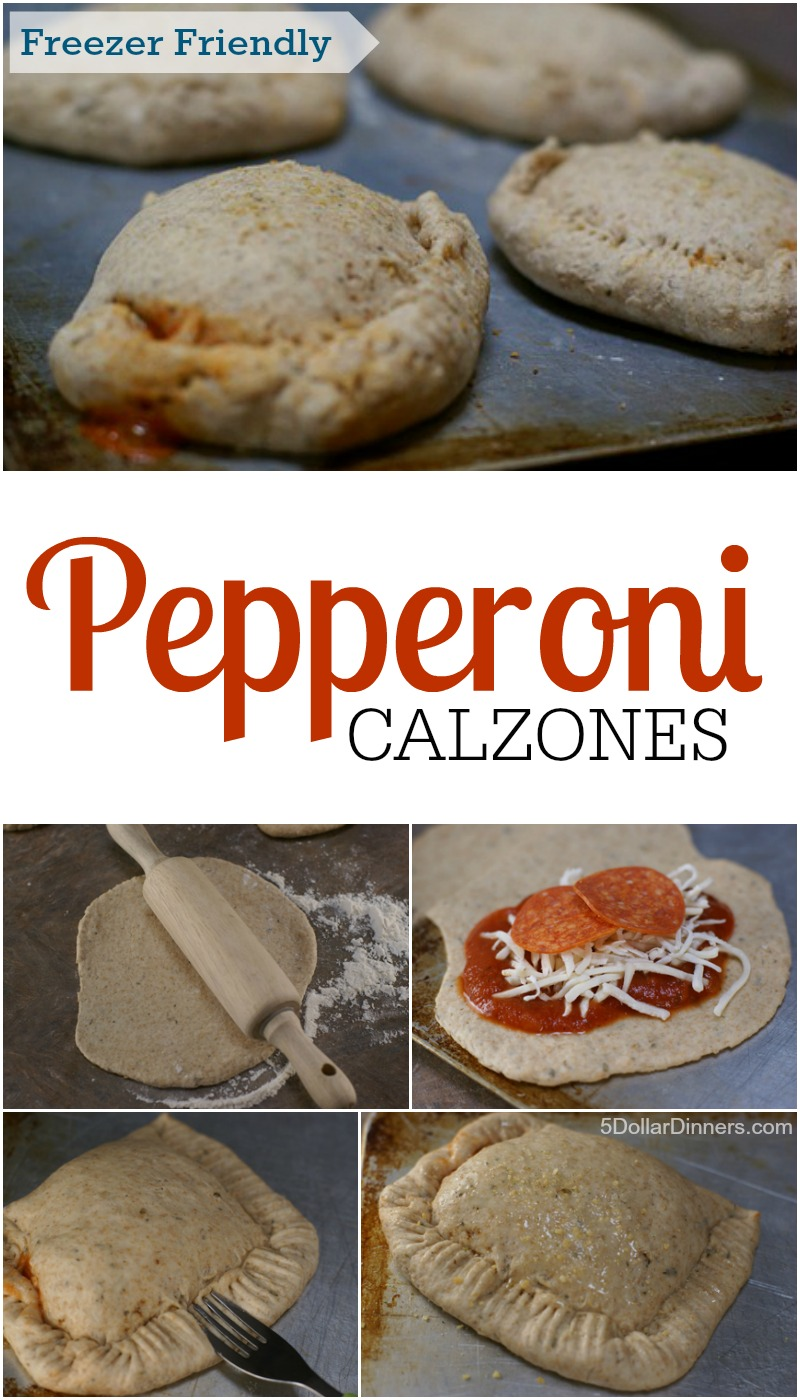 Pepperoni Calzones from 5DollarDinners.com