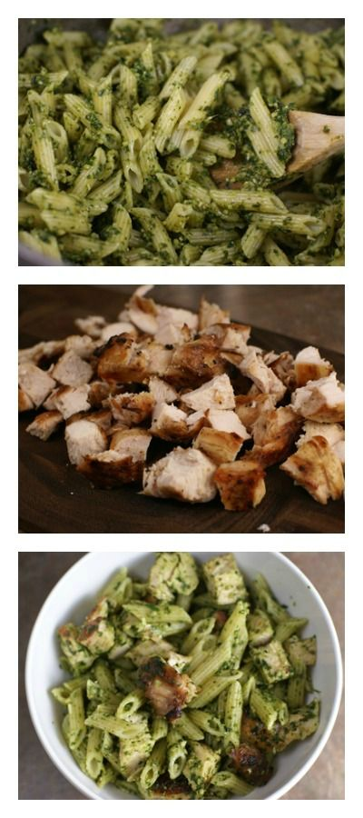 Grilled Chicken Spinach Pesto Pasta | 5DollarDinners.com