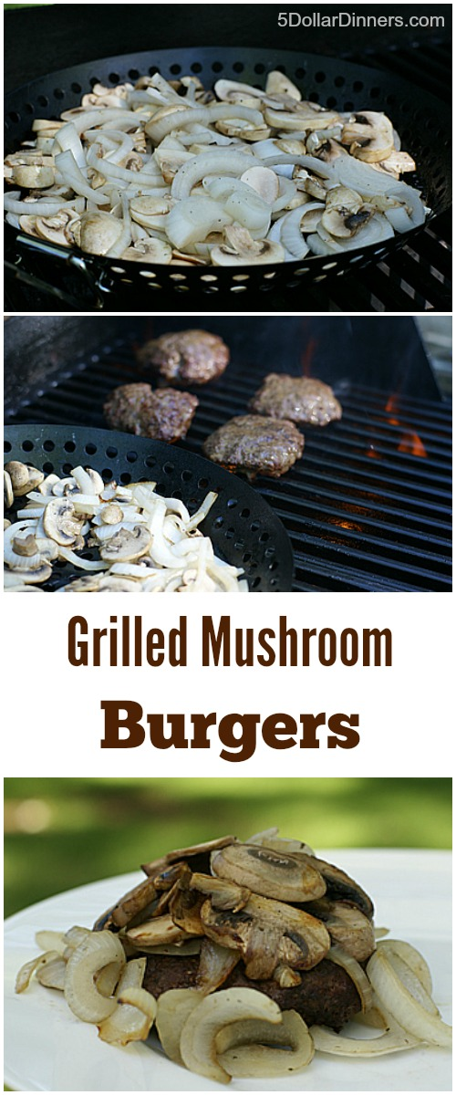 Grilled Mushroom Burgers | 5DollarDinners.com