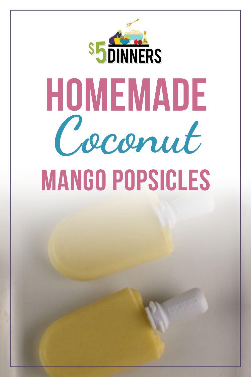 How to Make Homemade Coconut Mango Popsicles (Dairy Free)
