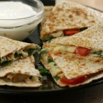 Chicken and Spinach Queso Quesadillas from 5DollarDinners.com