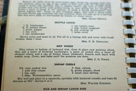 Ship Wreck Casserole - Vintage Recipe