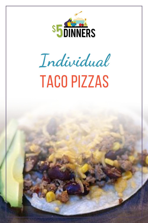 individual taco pizzas