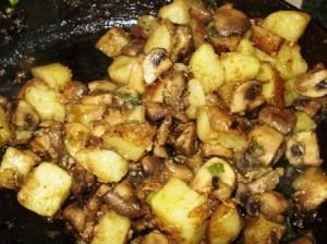 Sauteed Mushrooms and Potatoes