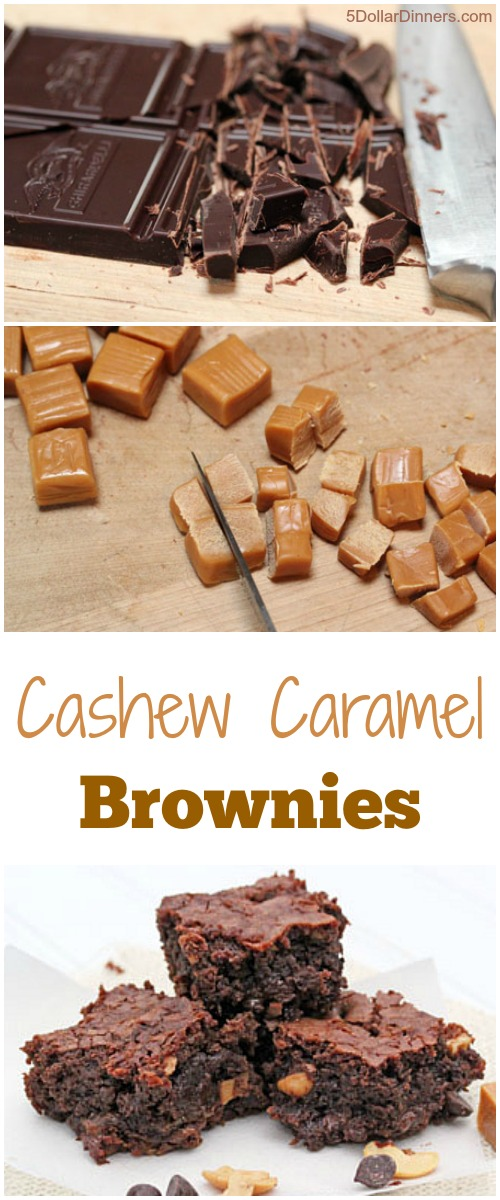 Cashew Caramel Brownies | 5DollarDinners.com