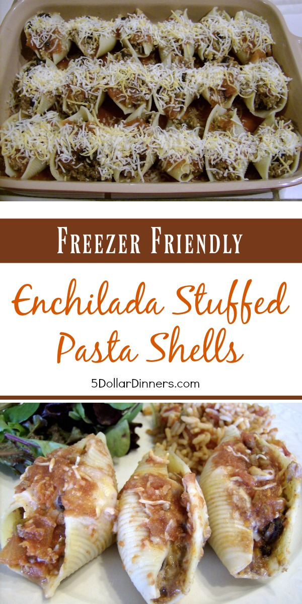 Enchilada Stuffed Pasta Shells