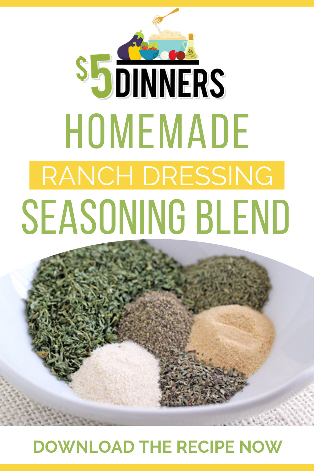 easy homemade ranch dressing