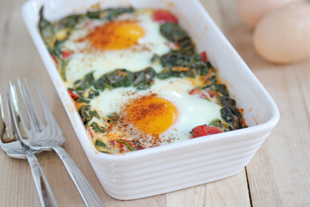 baked egg with spinach 7