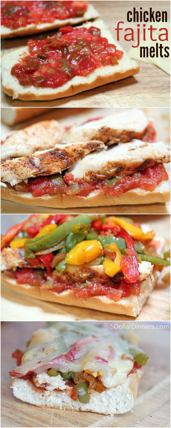 Chicken Fajita Melts from 5DollarDinners.com