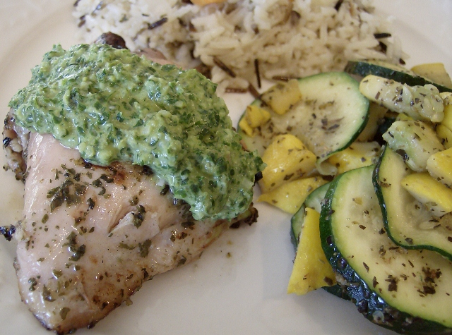 Cilantro - Lime Chicken with Chimichurri Sauce | 5DollarDinners.com