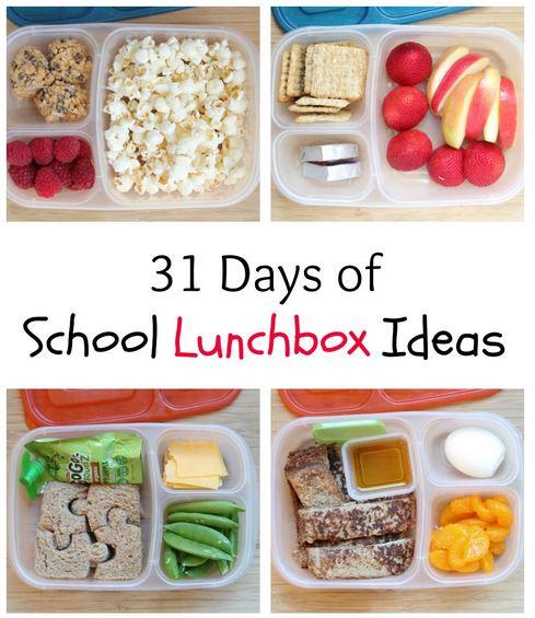 31 days of school lunchbox ideas series