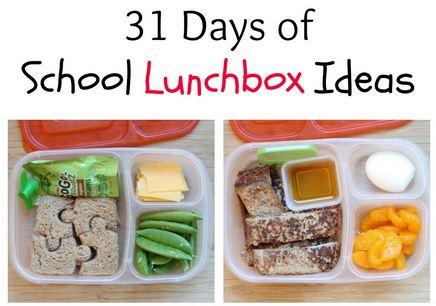31 days of school lunchbox recipes
