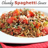 Homemade Chunky Spaghetti Sauce | 5DollarDinners.com