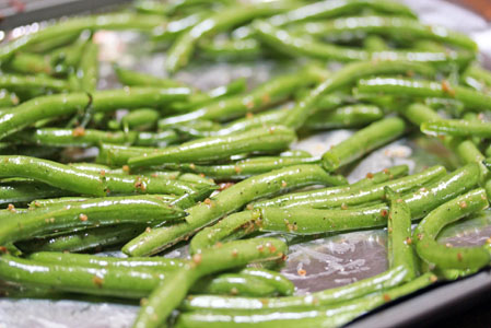 oven roasted green beans 1