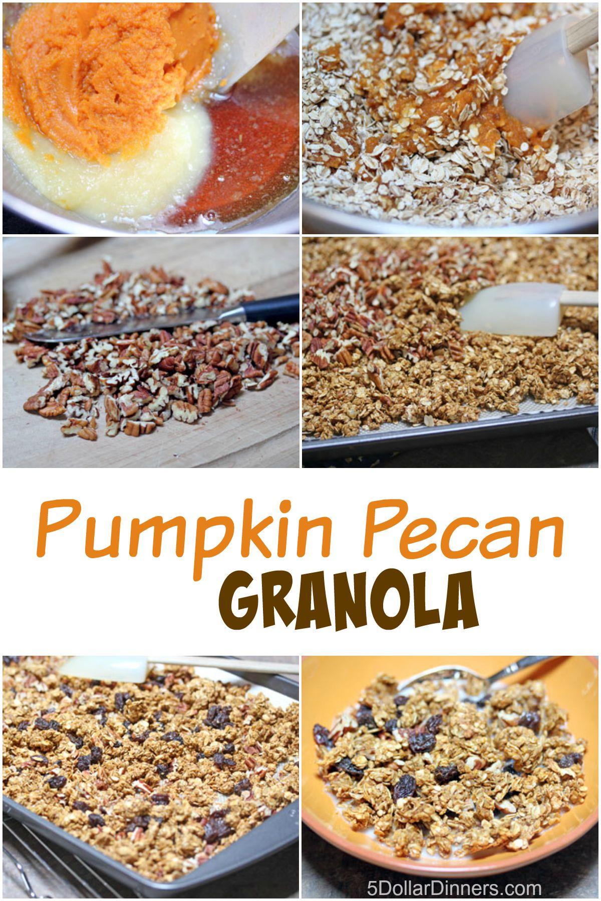 Pumpkin Pecan Granola from 5DollarDinners.com