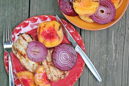 grilled peaches pork chops 5