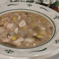White Chili with Ground Turkey Recipe gluten free, dairy free