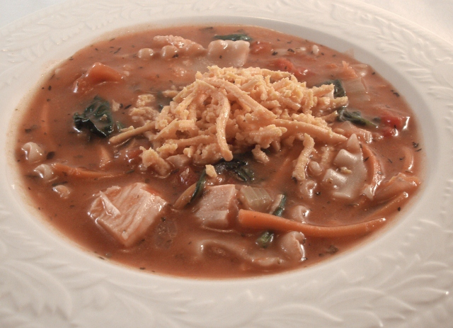 Turkey Lasagna Soup A Turkey Leftovers Recipe
