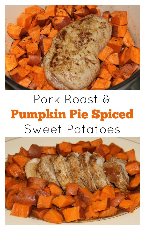 Pork Roast and Pumpkin Pie Spiced Sweet Potatoes | 5DollarDinners.com