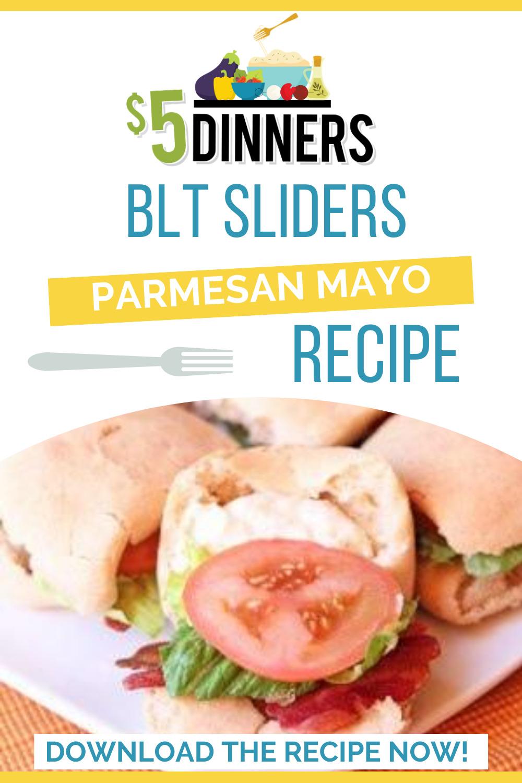 BLT sliders parmesan mayo