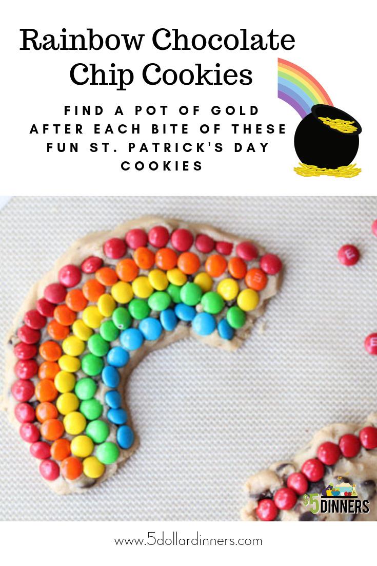 st patrick's day rainbow cookies