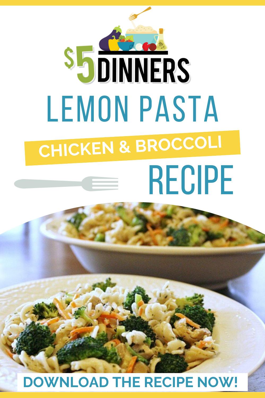 lemon pasta with chicken & broccoli