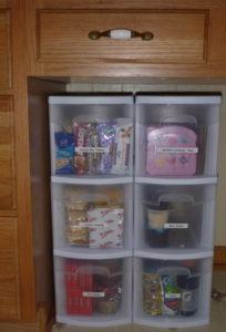 lunchbox cupboard